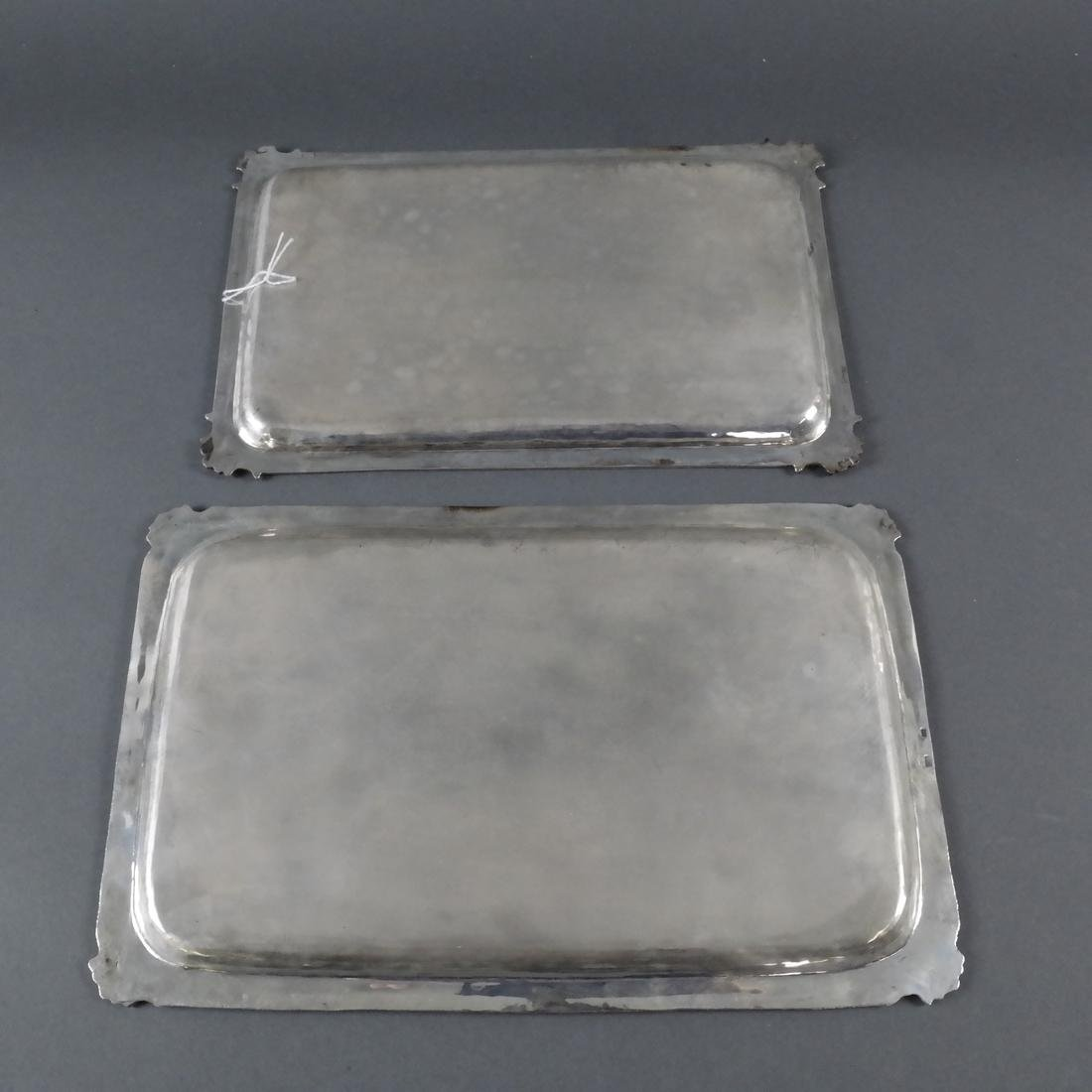 Two .800 Standard Silver Trays - 7