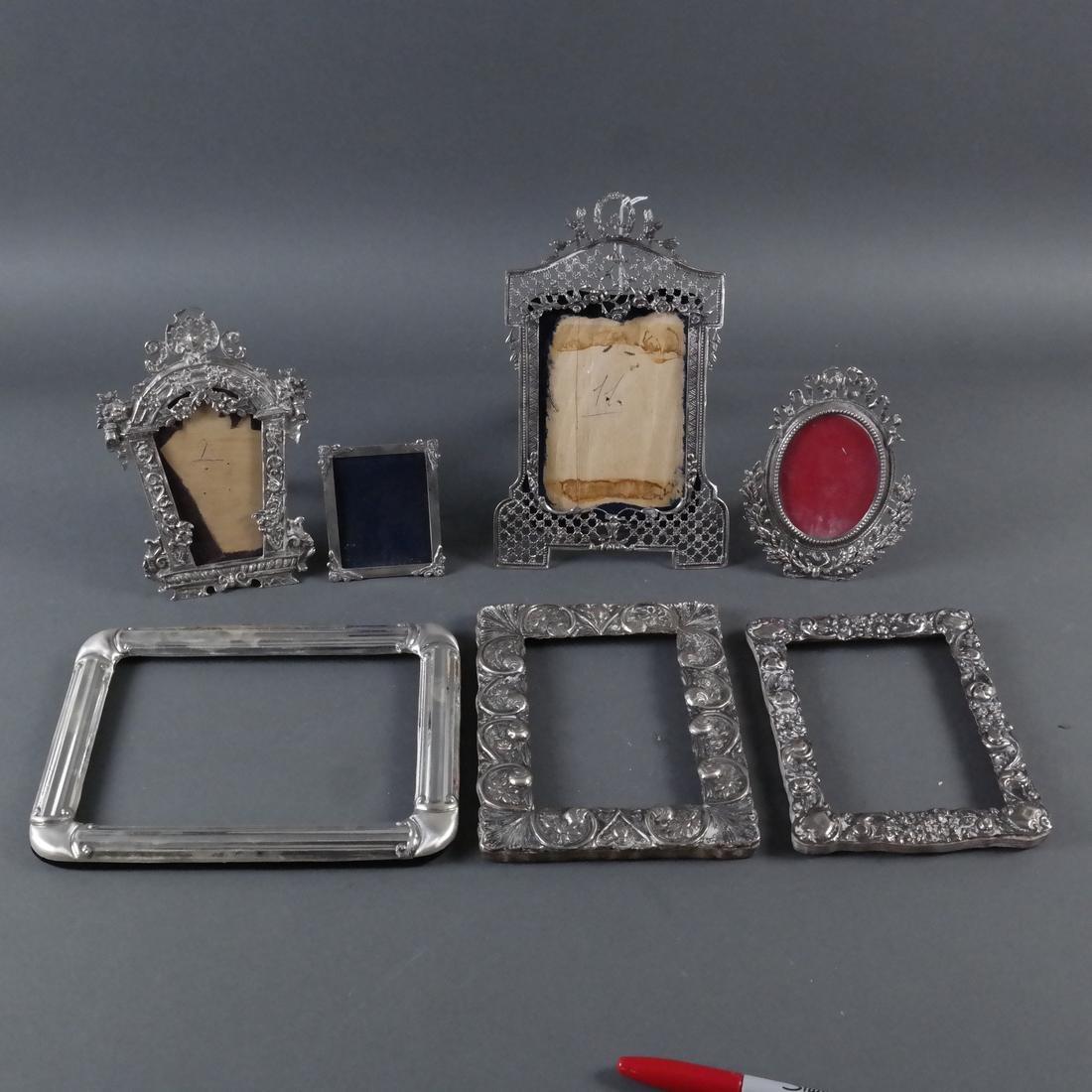 Seven Silver Photo Frames