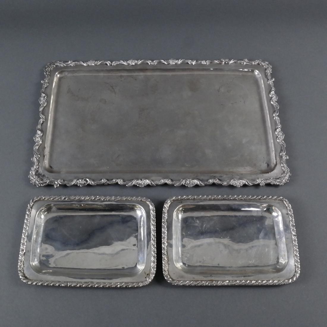 Three Various Silver Trays