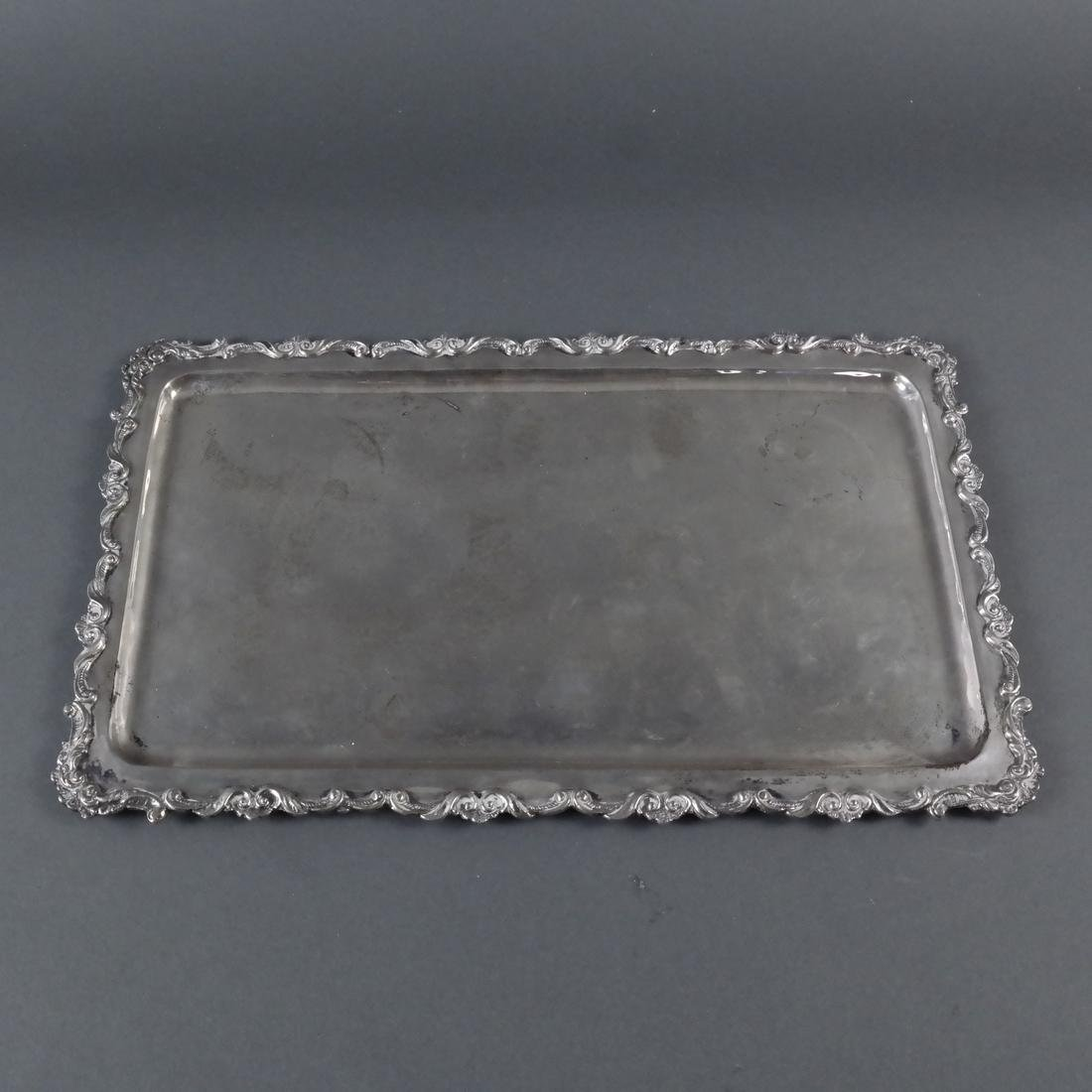 Three Various Silver Trays - 2