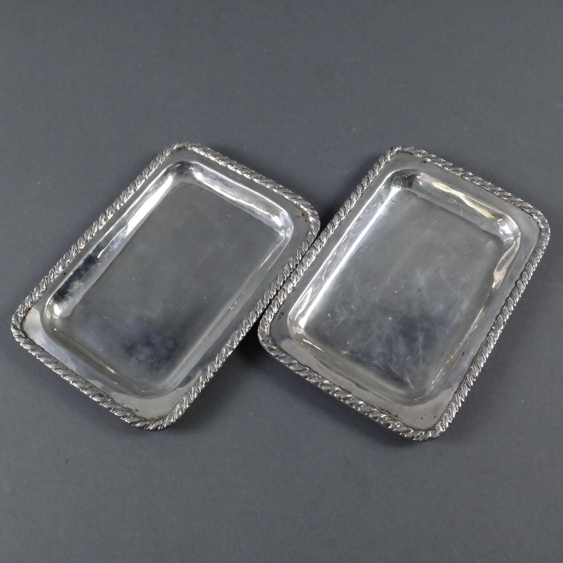 Three Various Silver Trays - 4