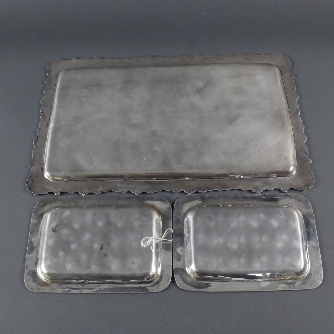 Three Various Silver Trays - 6