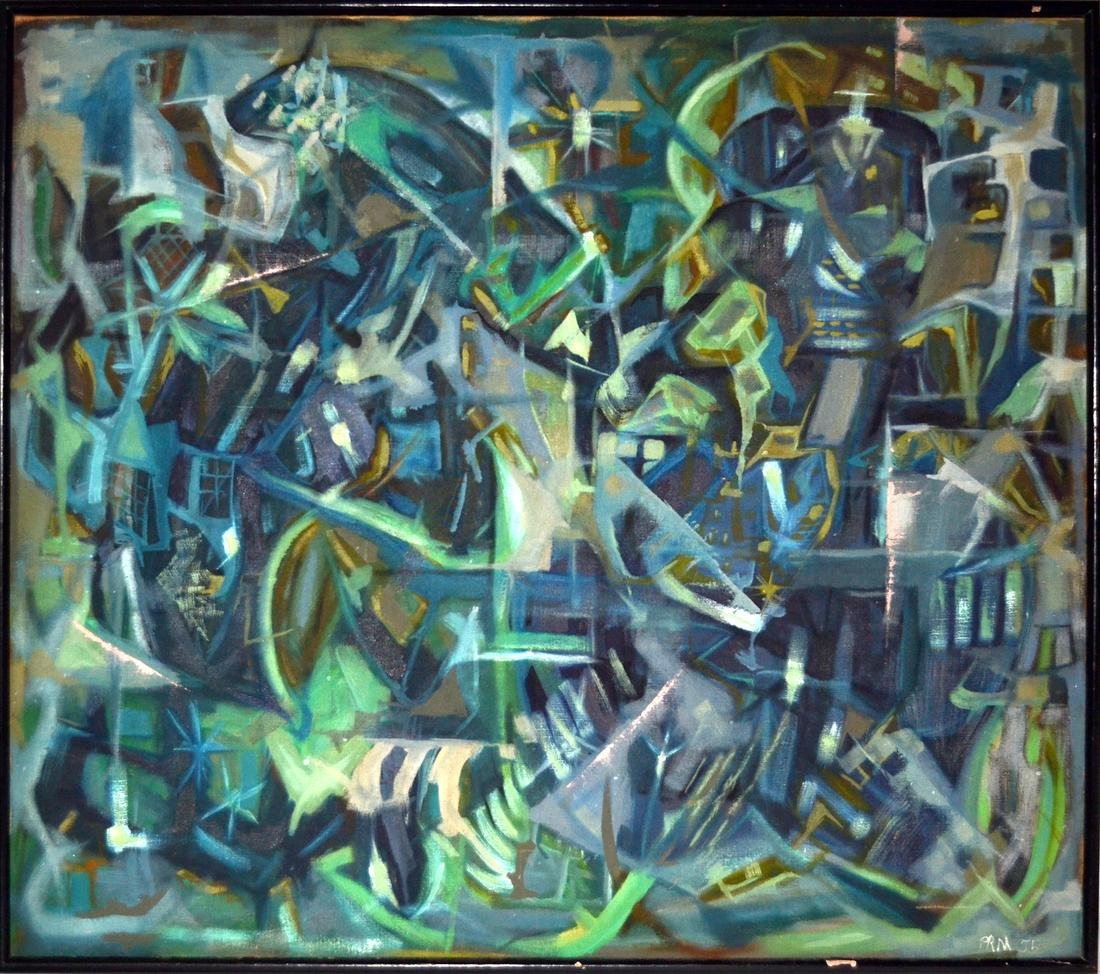 1955 Abstract Oil on Canvas