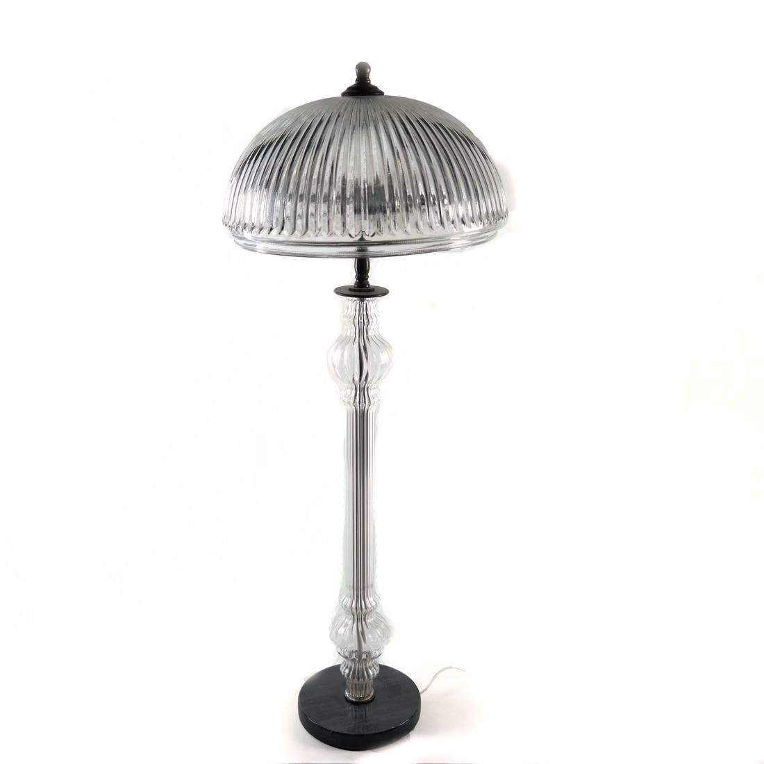 Reeded Glass Lamp