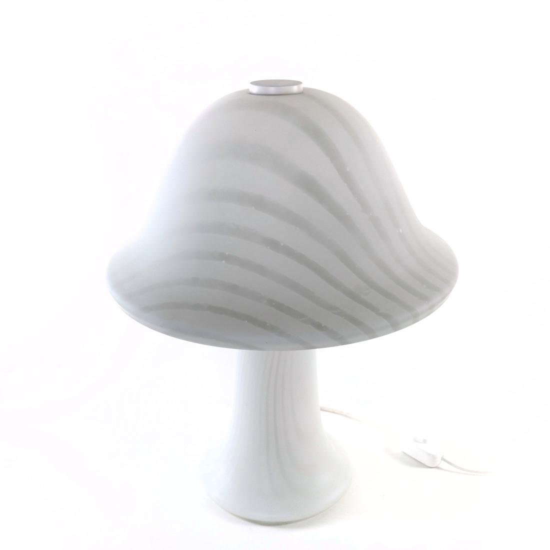 Putzler White Glass Mushroom Lamp