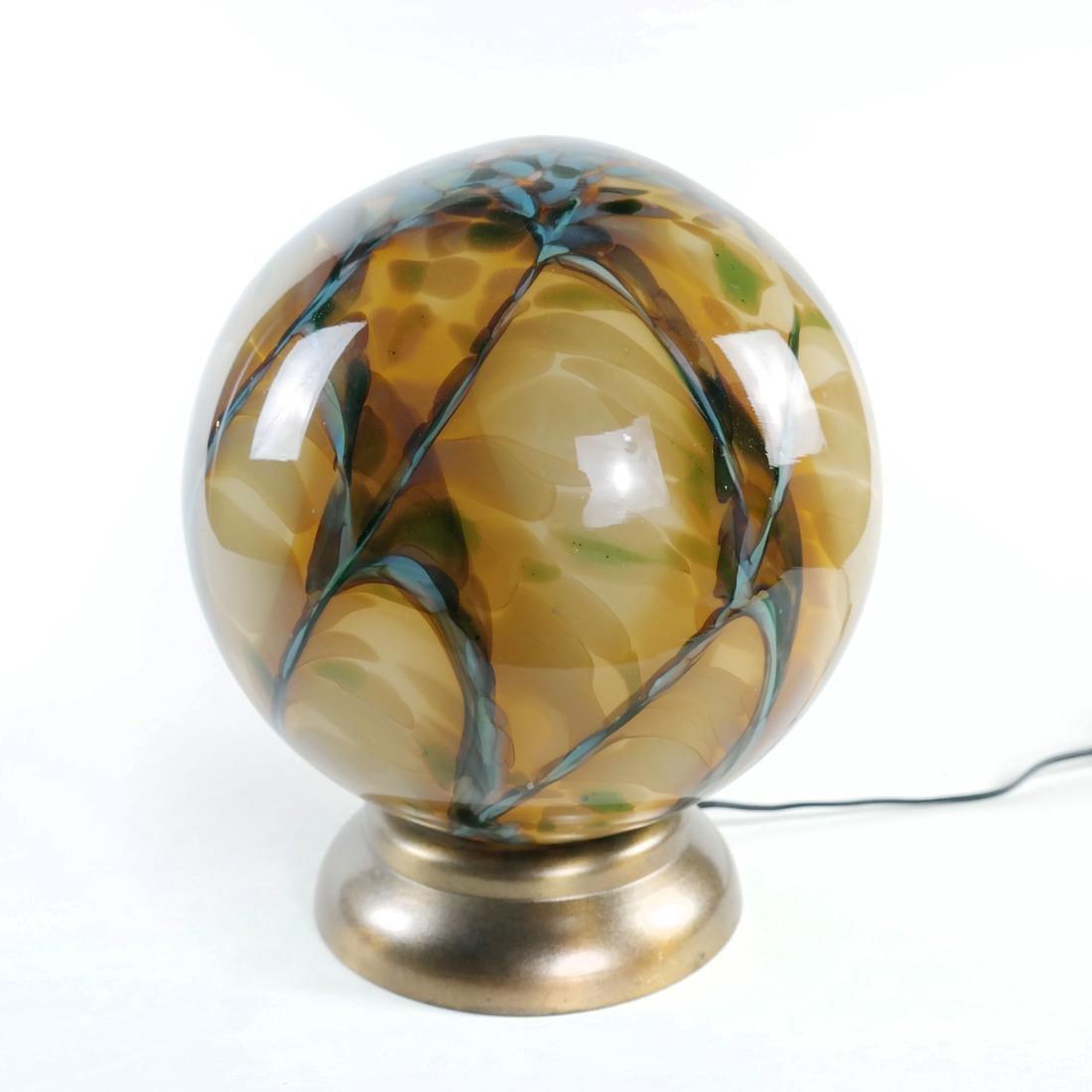 Art Glass Orb Lamp