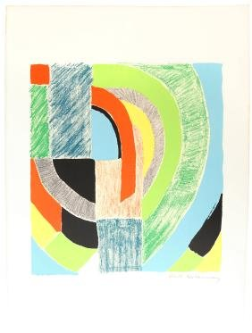 """Sonia Delaunay, """"Rhyme Couleur No. 1574"""" - Lithograph"""