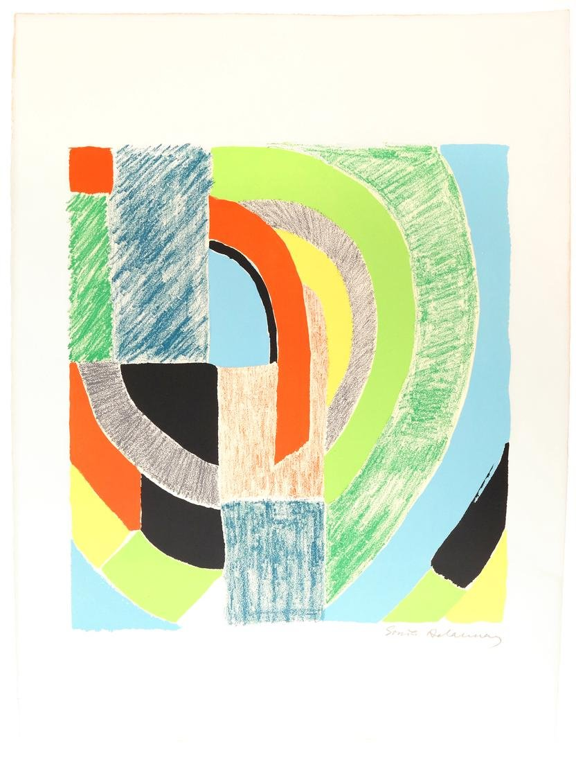 "Sonia Delaunay, ""Rhyme Couleur No. 1574"" - Lithograph"