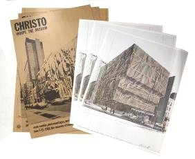 Six Signed Posters of Unrealized Christo Projects