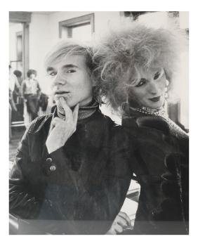 Attr. to Sir Cecil Beaton: Warhol and Darling -