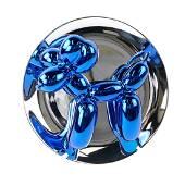 "Jeff Koons, ""Balloon Dog (Blue)"" - Porcelain Scupture"