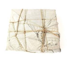 Christo, Wrapped Book - Mixed Media with Nylon,