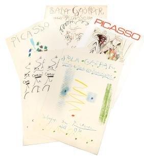Pablo Picasso, Seven Vintage Posters, 1959-1972