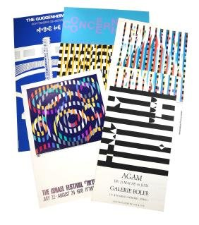 Yaacov Agam, Five  Exhibition Posters