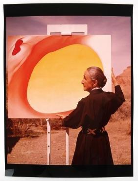 Tony Vaccaro, Color Photograph of Georgia O'Keefe
