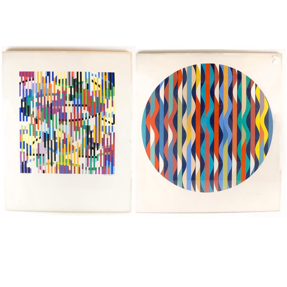 Yaacov Agam, Abstract Geometric Composition - Screen