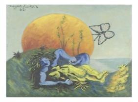 "Meyer Lazar, ""Lovers"" - Oil on Masonite"