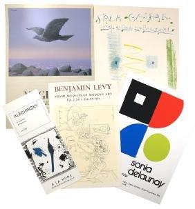 Set of Five Vintage Exhibition Posters - Color