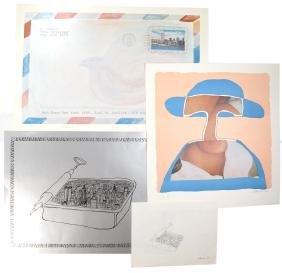 E. Nameri, Four Signed Lithographs, 1978-79