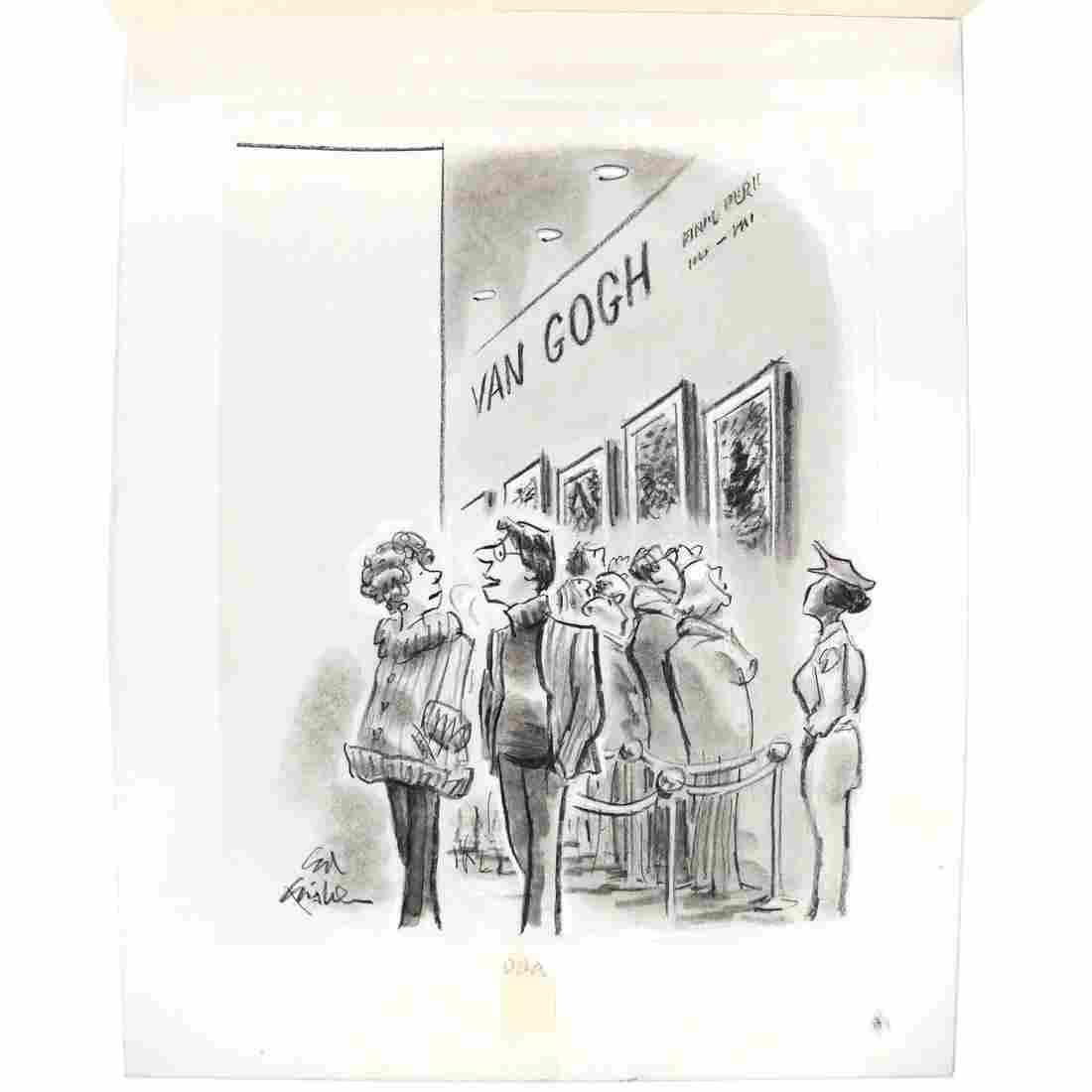 Ed Fisher, Original Illustration - Charcoal