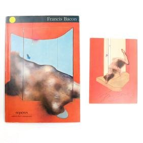 Francis Bacon, Signed Invitation and Gallery Catalogue