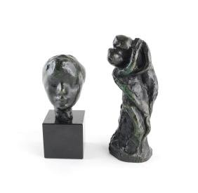 After Auguste Rodin, Two Patinated Sculptures
