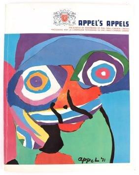 Karel Appel, Signed Exhibition Catalogue With Original