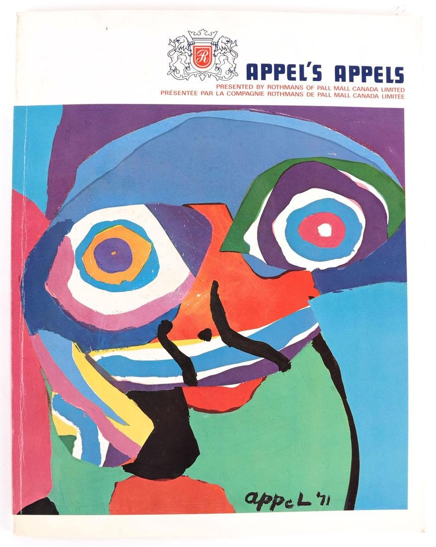 Karel Appel, Signed Exhibition Catalogue With Original