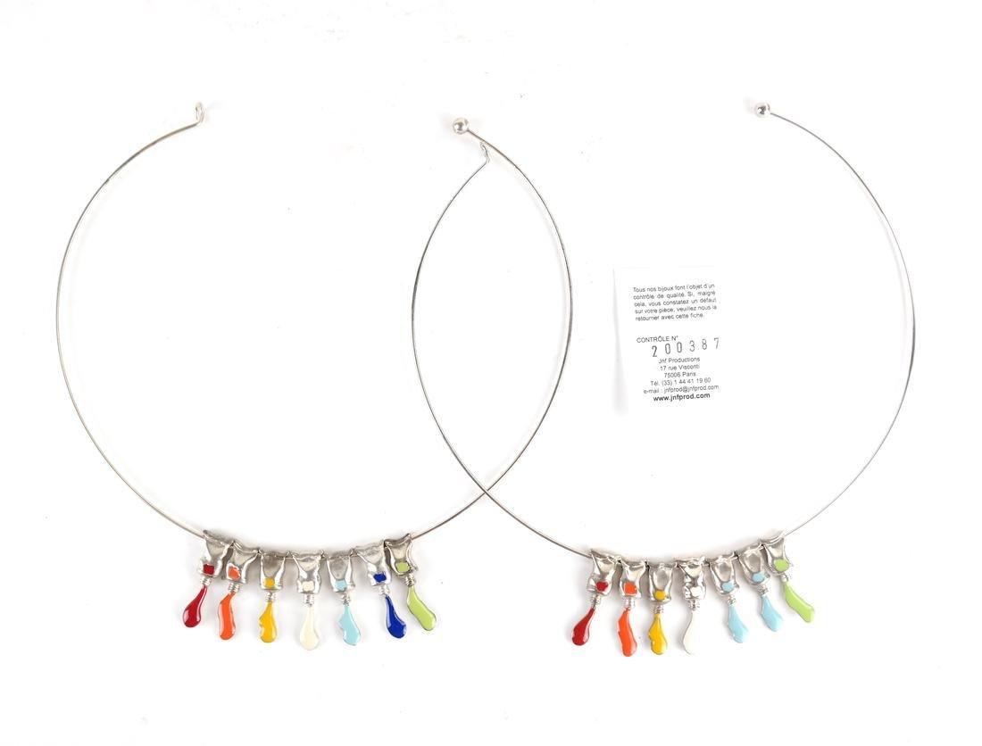 """Arman (Armand Fernandez),  Two """"Paint Tube"""" Necklaces"""