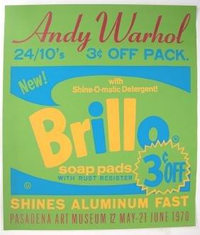 Andy Warhol, Pasadena Art Museum/brillo Poster, 1970