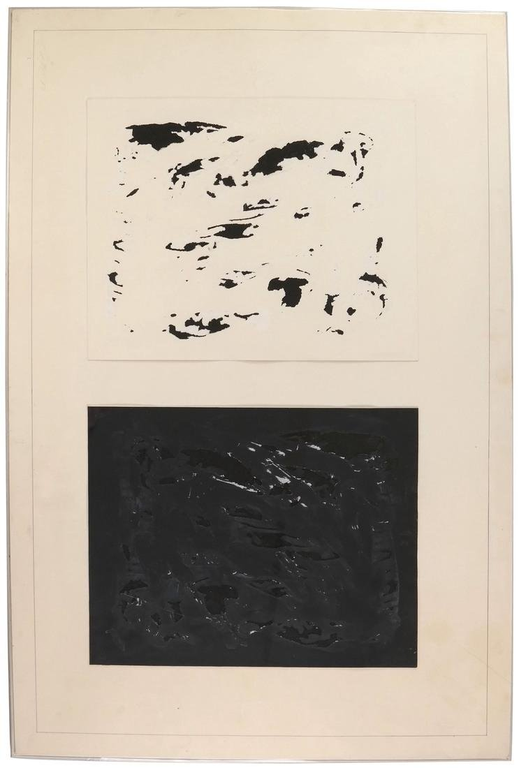 S. Koren, Black and White Abstract Composition -