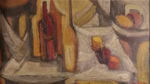 G. Carmen, Still Life, Oil on Masonite