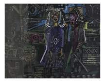 Constantin Roy Miller Abstract Gouache