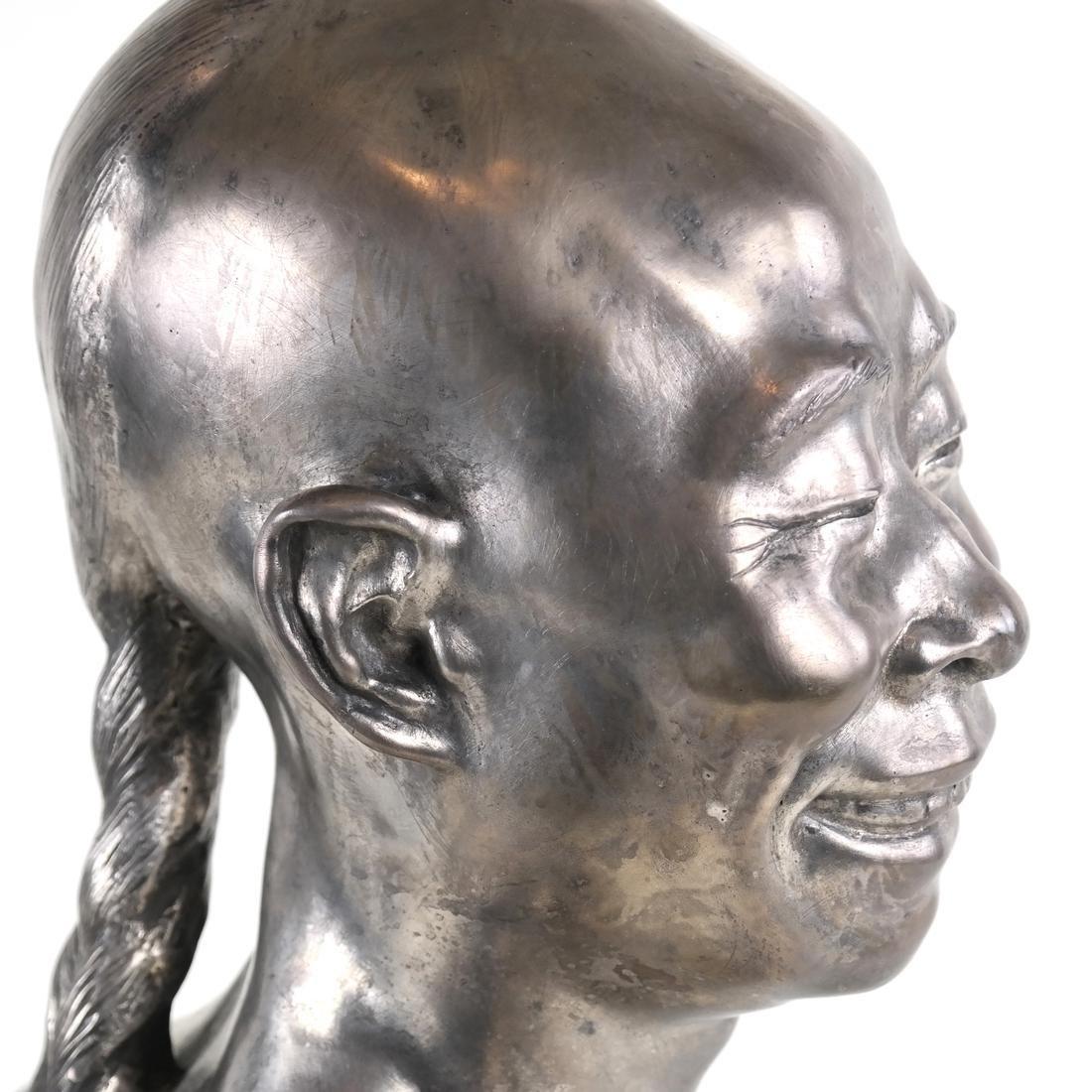 Chih-Fan Bronze Sculpture by Jean Mich - 10