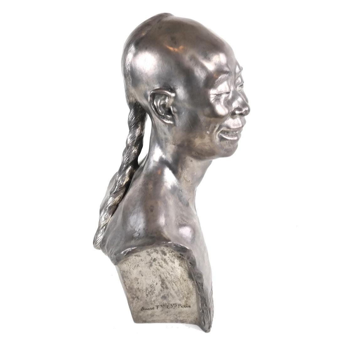 Chih-Fan Bronze Sculpture by Jean Mich