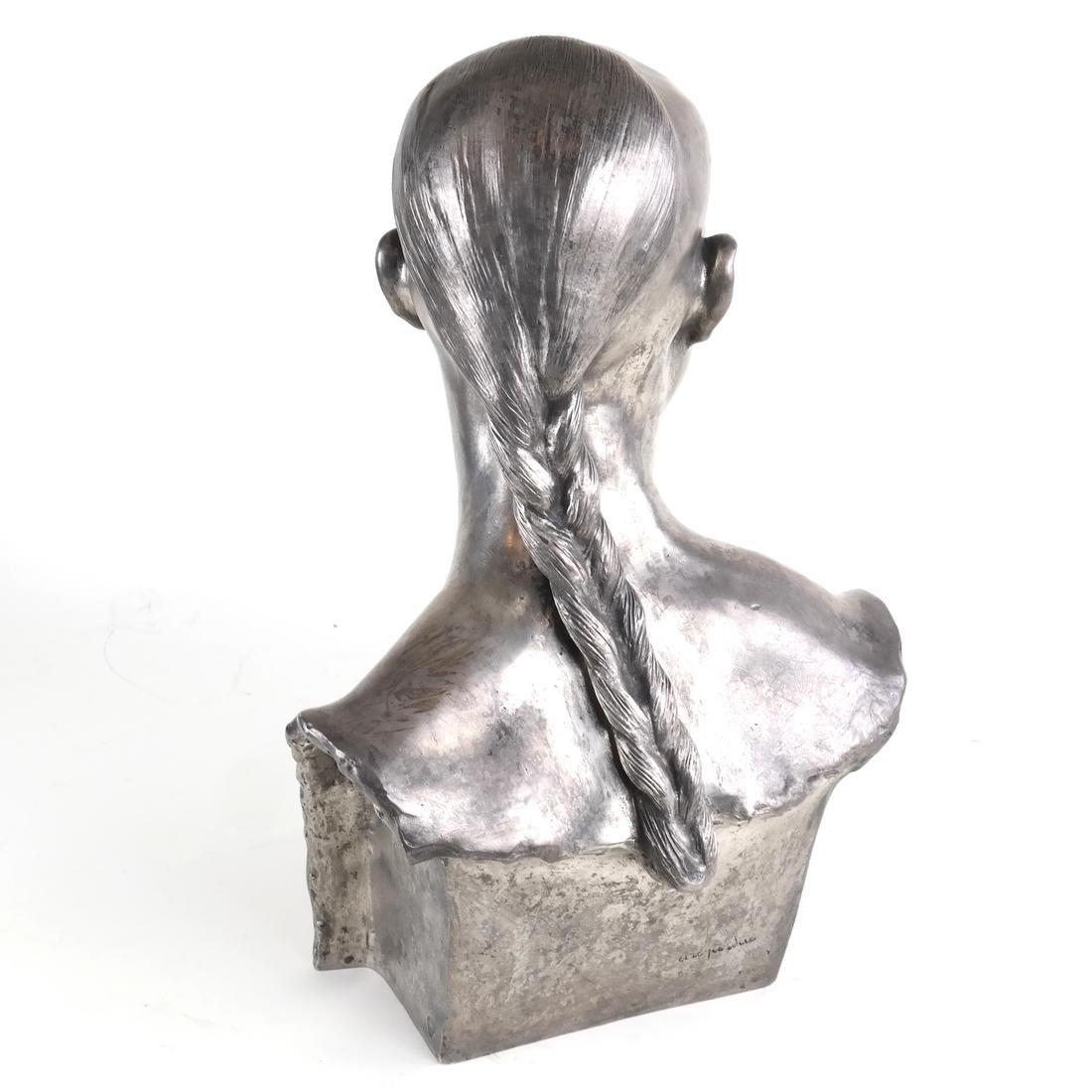 Chih-Fan Bronze Sculpture by Jean Mich - 7