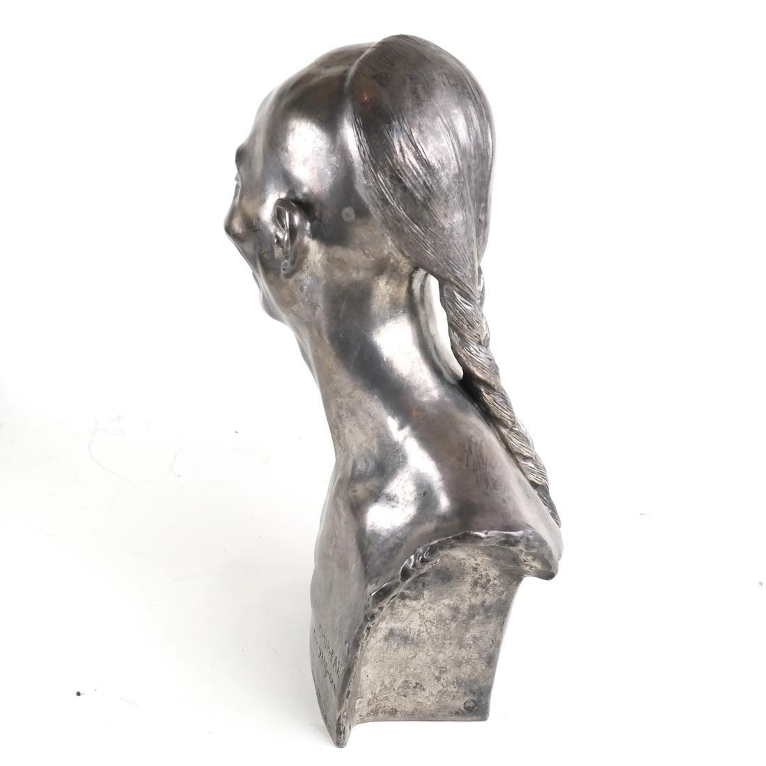 Chih-Fan Bronze Sculpture by Jean Mich - 8