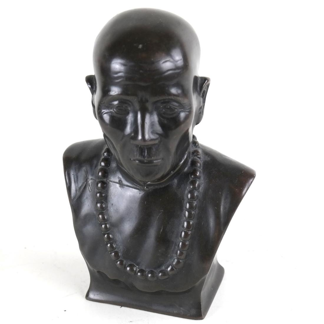 Bronze Sculpture, Man with Necklace