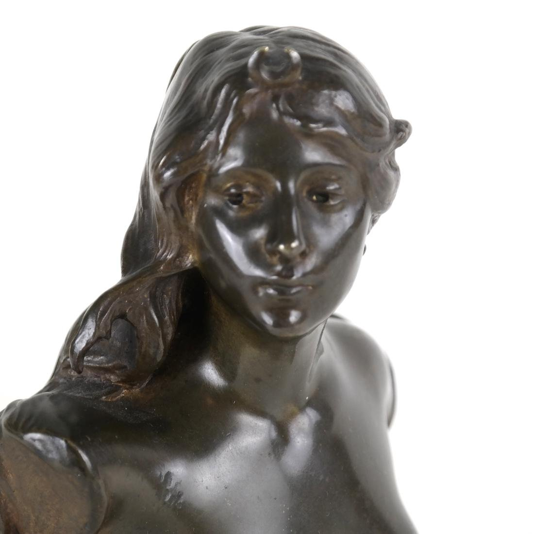 P. Sado, Bronze Bust Of A Lady - 2