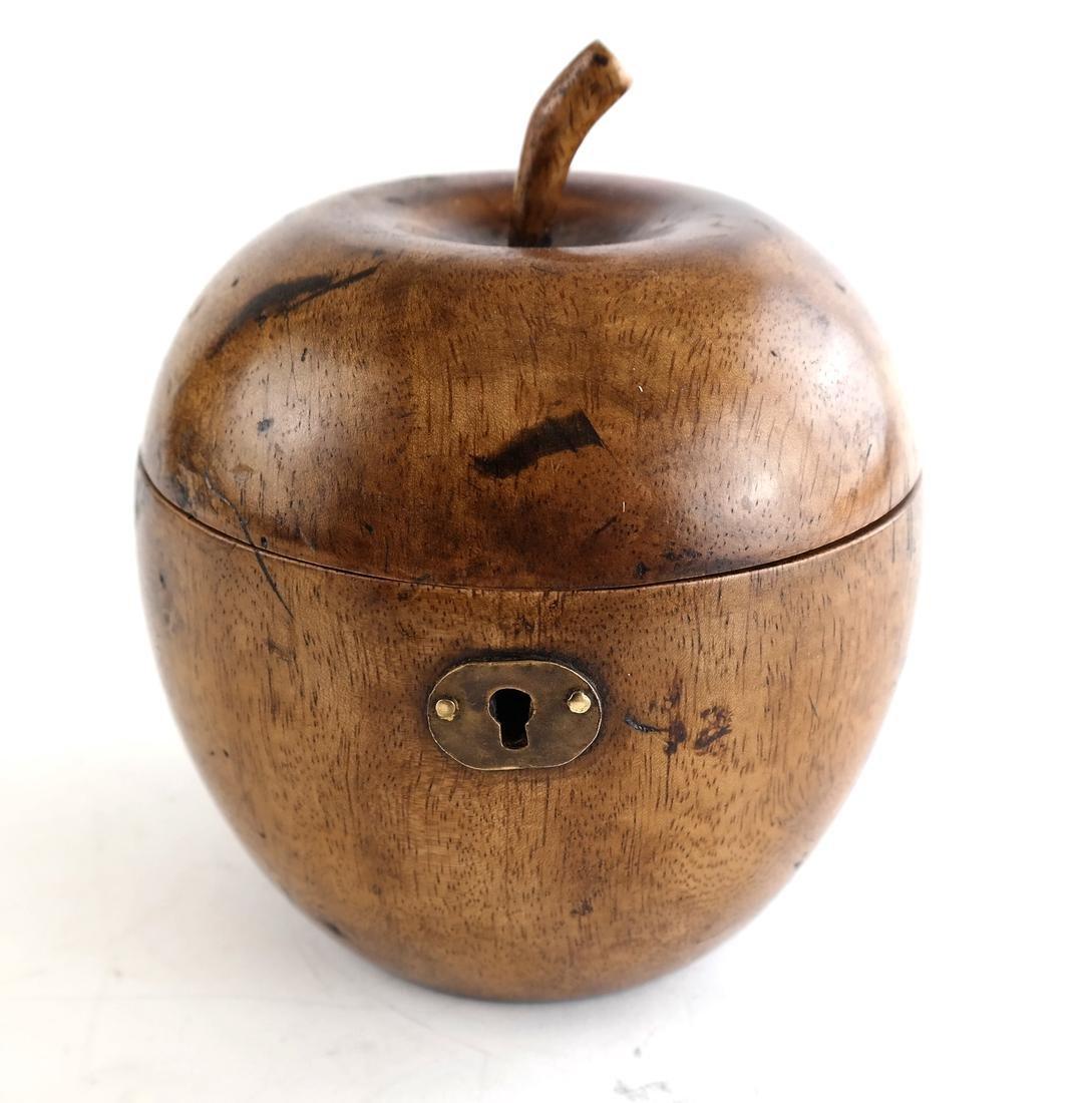 Antique Apple-Form Tea Caddy