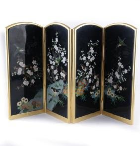 Japanese Cloisonne Screen