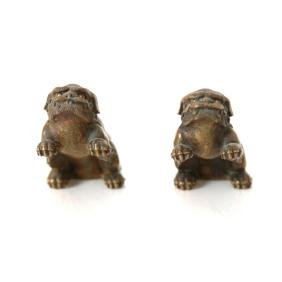 Pair of Bronze Foo Dogs