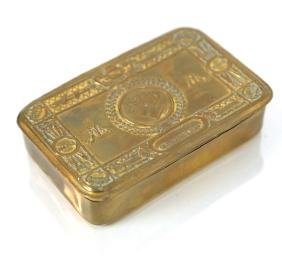 Brass Royal Christmas Box