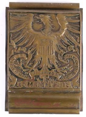 Bronze Dore Cutler Mail Chute