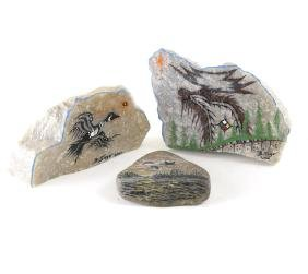Three Painted Rocks