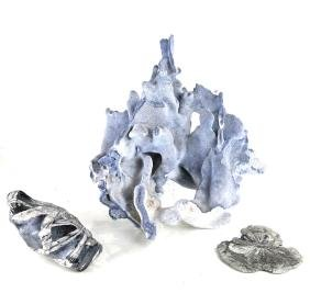 A Coral Sculpture & Marble Sculpture