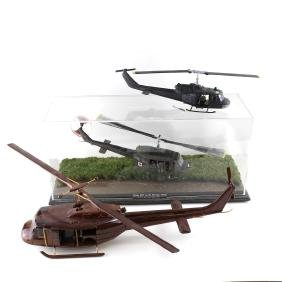 Three Model Helicopters