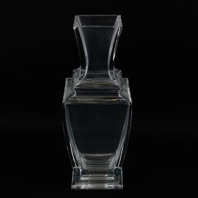 Baccarat Clear Glass Vase