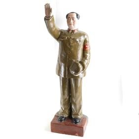 Chinese Glazed Porcelain Mao Figure
