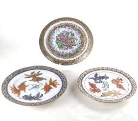 Three Chinese Export Porcelain Dishes